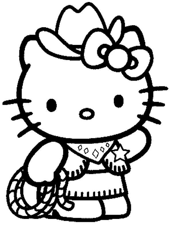 143 dessins de coloriage Hello Kitty à imprimer