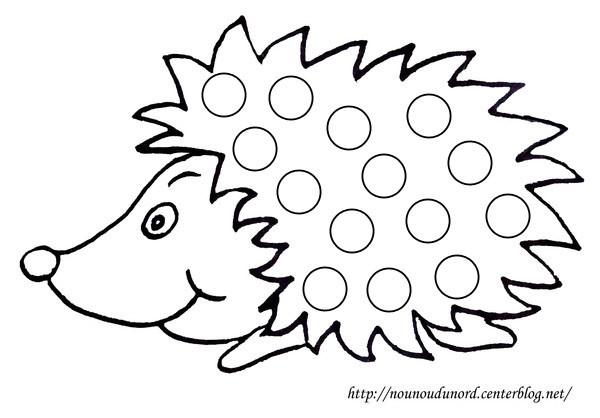 20 dessins de coloriage Hérisson Maternelle à imprimer