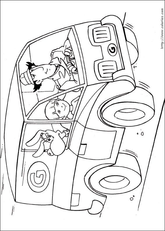 48 dessins de coloriage Inspecteur Gadget à imprimer