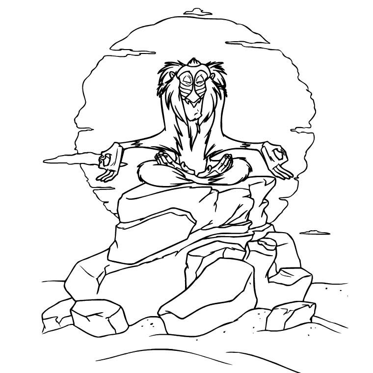 20 dessins de coloriage Le Roi Lion Pdf à imprimer