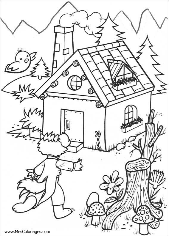 18 dessins de coloriage Loup 3 Petit Cochons à imprimer