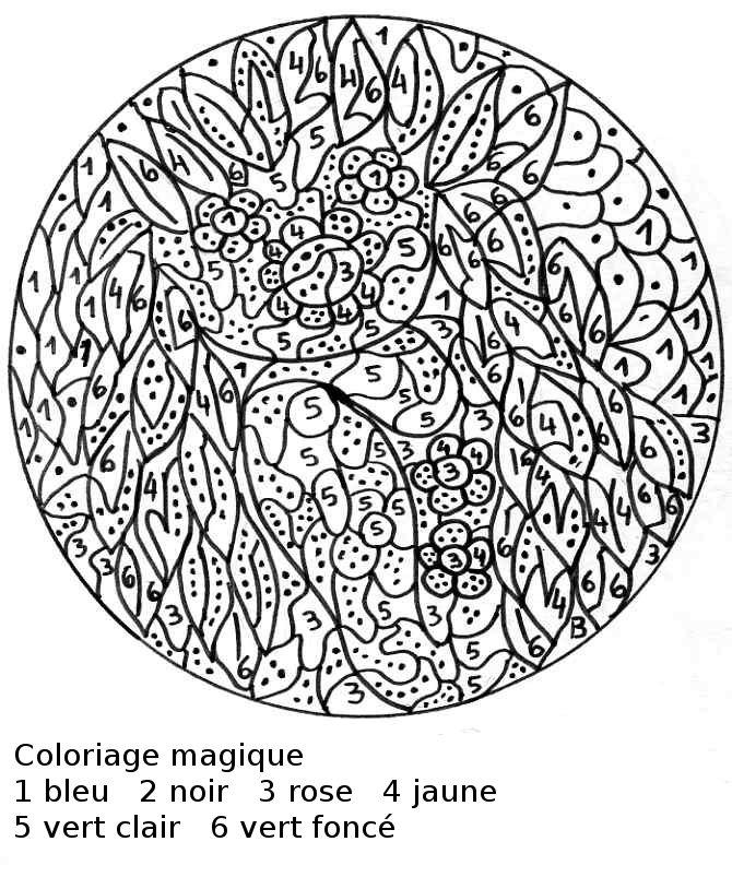 coloriage magique sur les fractions cm2