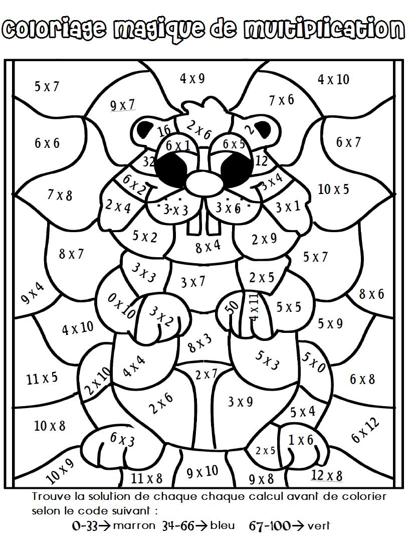 20 dessins de coloriage Magique Cm2 à imprimer