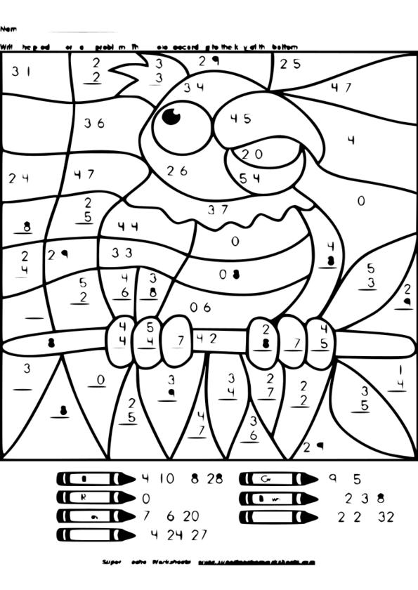 coloriage magique ce2 maths
