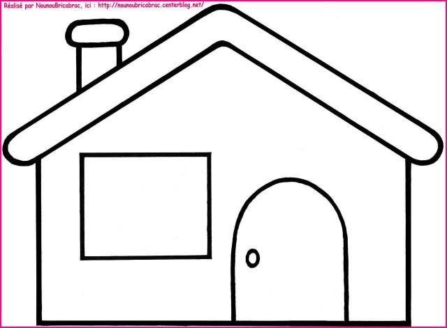 coloriage à dessiner la maison de mickey