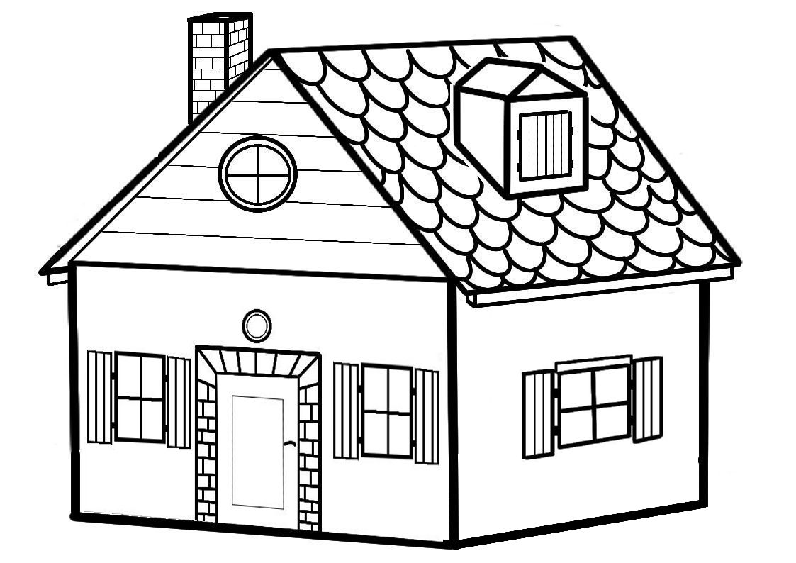 dessin  colorier maison du pere noel gratuit