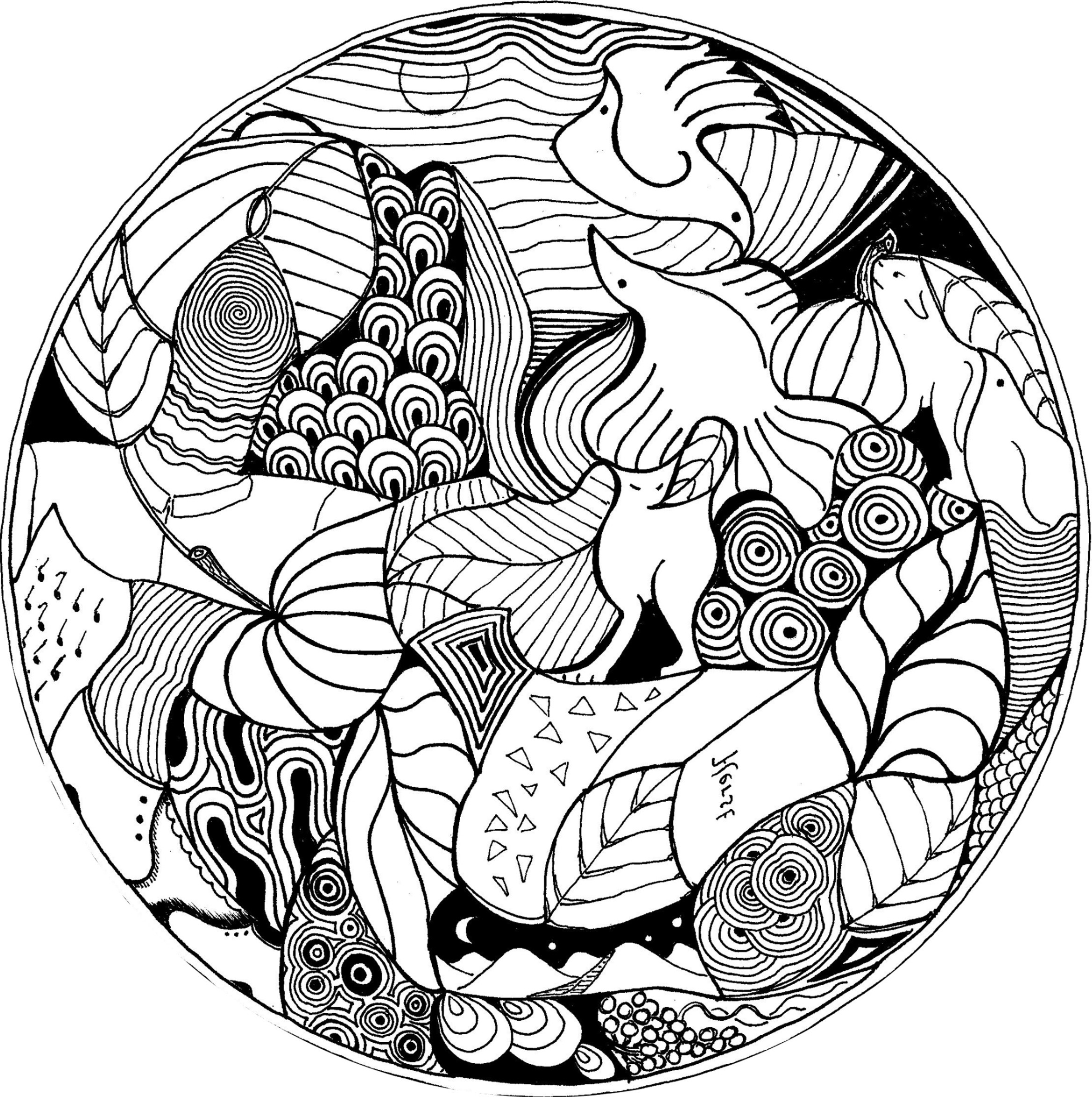 15 Coloriage Mandala attrape Reve