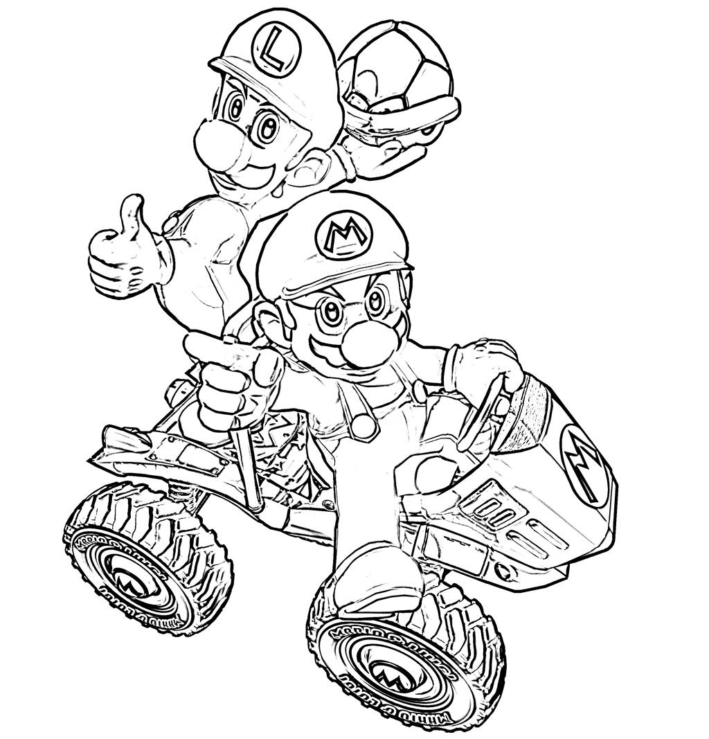 coloriage à dessiner super mario bros 3