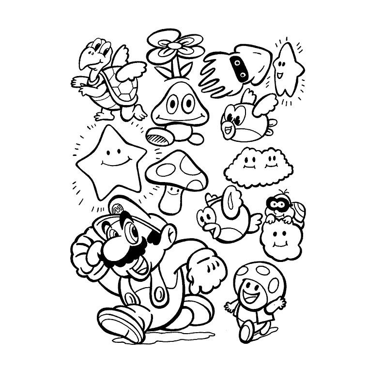 26 dessins de coloriage Mario Kart à imprimer