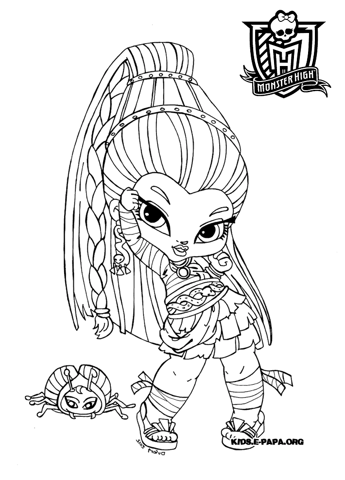 sac a colorier monster high king jouet