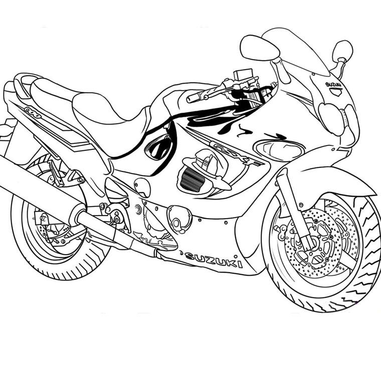 98 dessins de coloriage Moto Course à imprimer