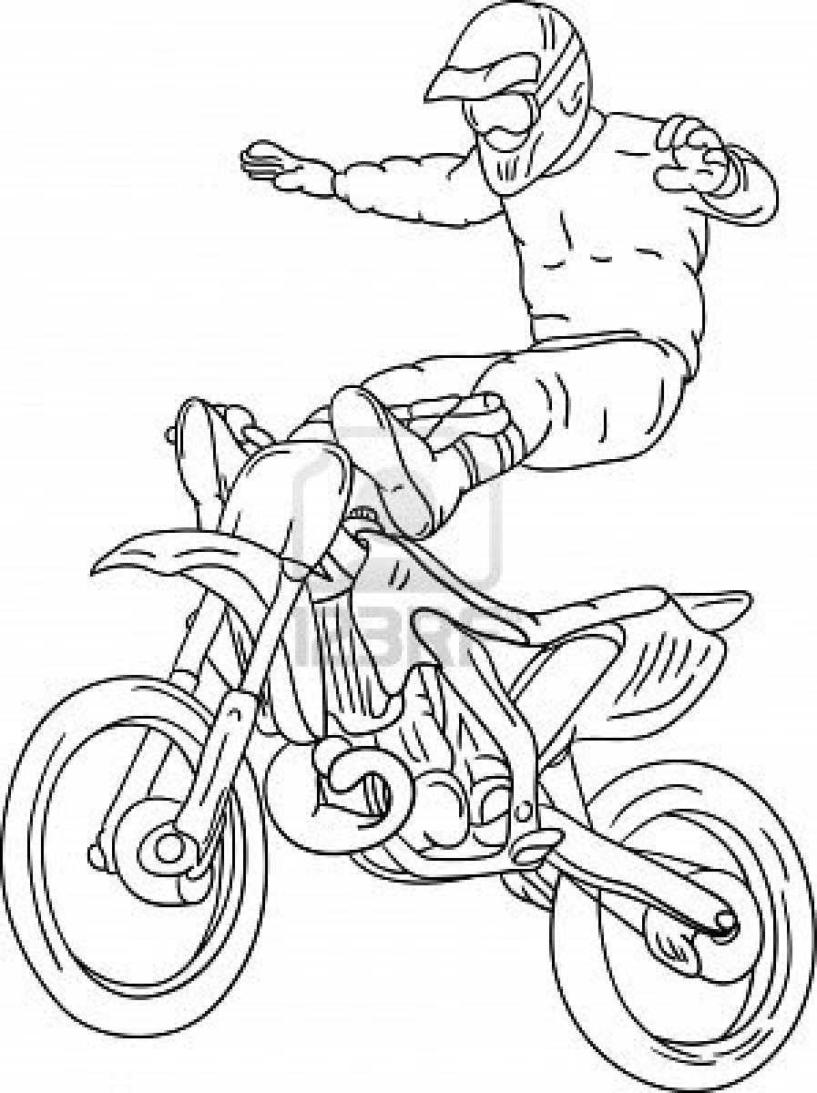 92 dessins de coloriage Moto Cross à imprimer