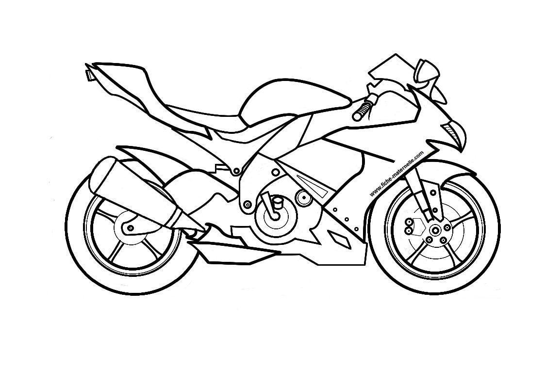 7 dessins de coloriage Moto Gp à imprimer