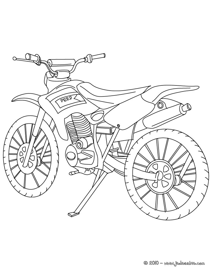 82 dessins de coloriage Moto Harley à imprimer