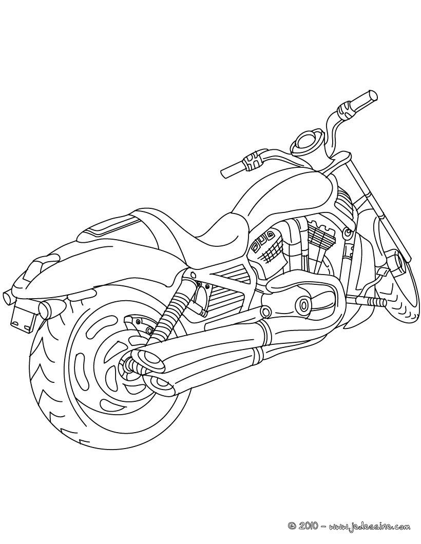 92 dessins de coloriage Moto Ktm à imprimer