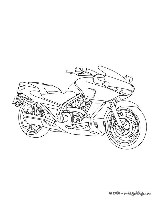 95 dessins de coloriage Moto Trial à imprimer
