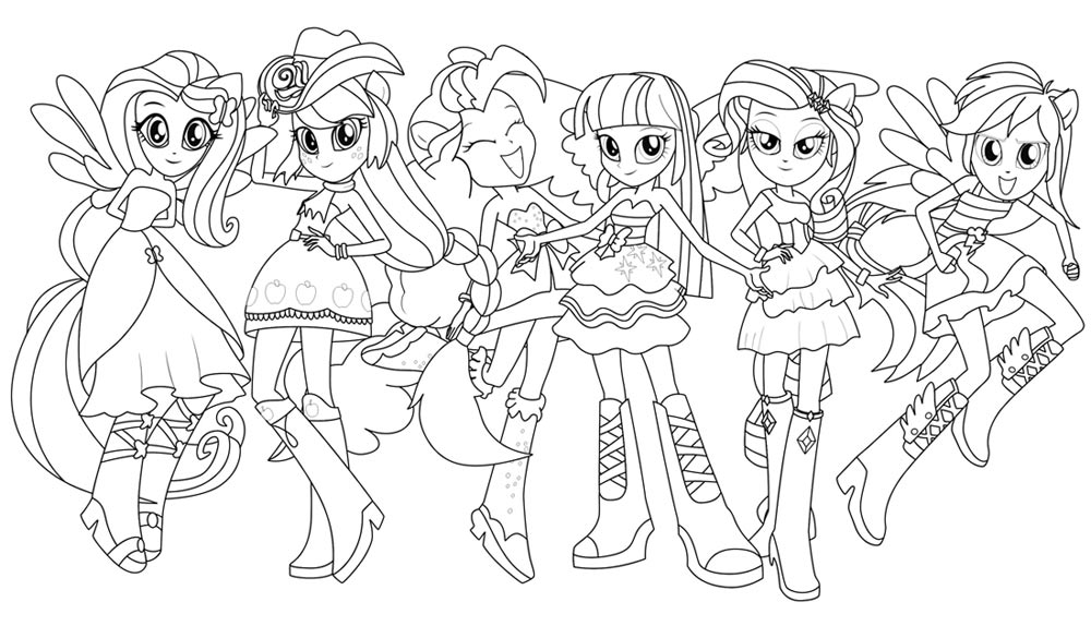 15 dessins de coloriage My Little Pony Humaine à imprimer