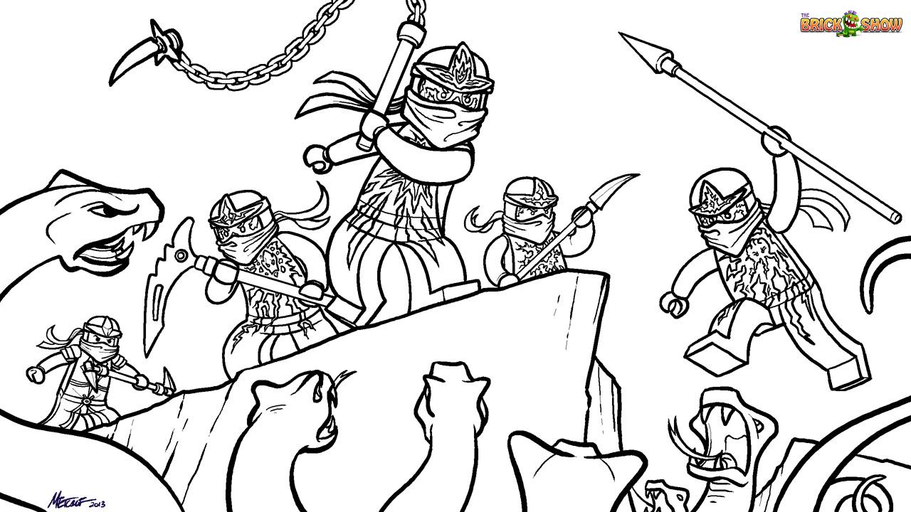 37 dessins de coloriage Ninjago à imprimer
