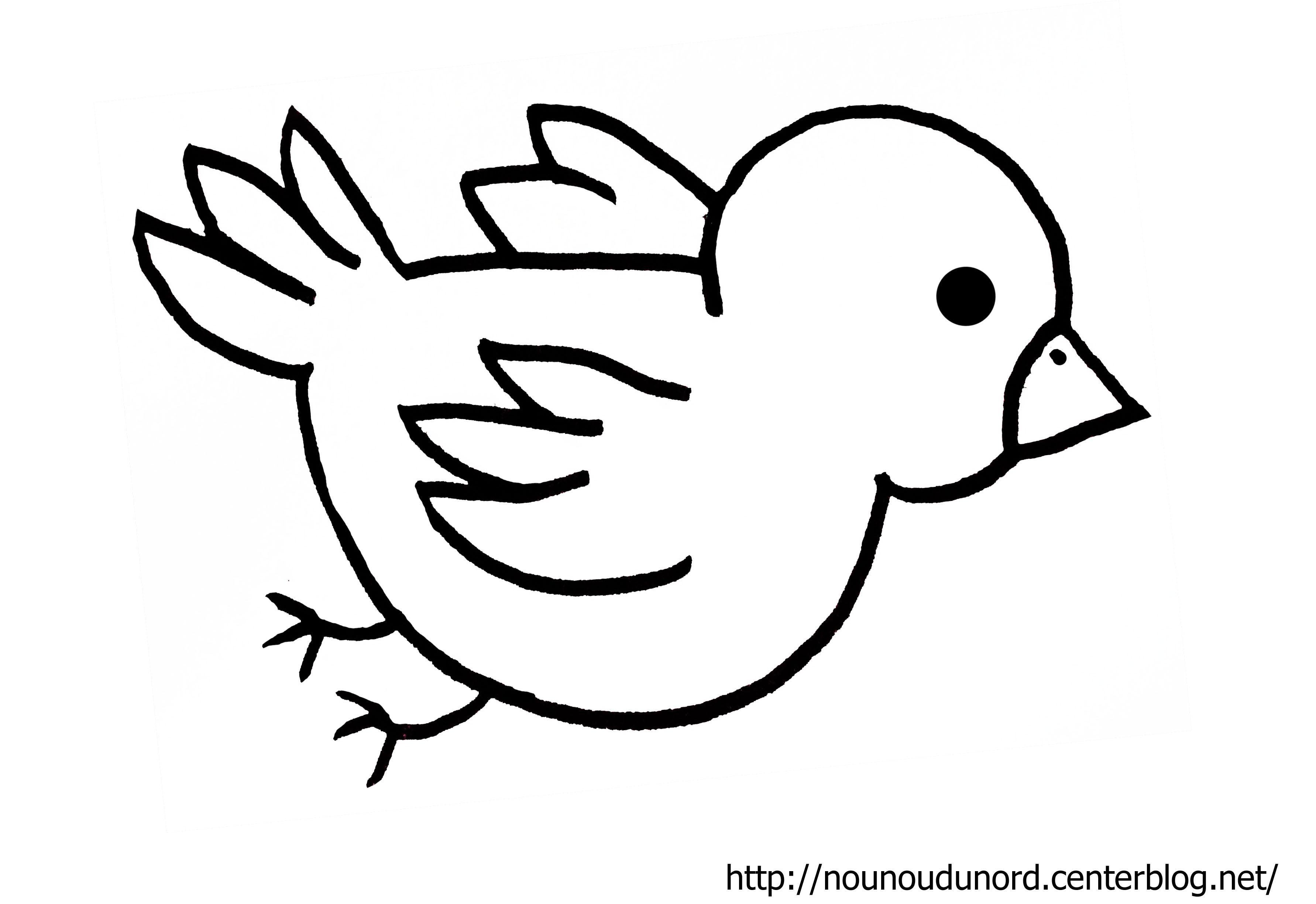 coloriage à dessiner oiseaux dans nid