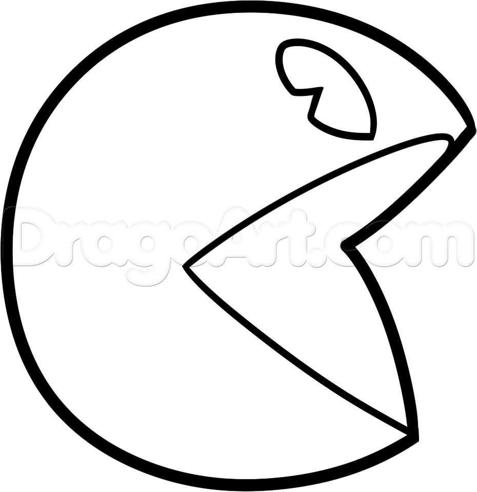 coloriage à dessiner gratuit pacman