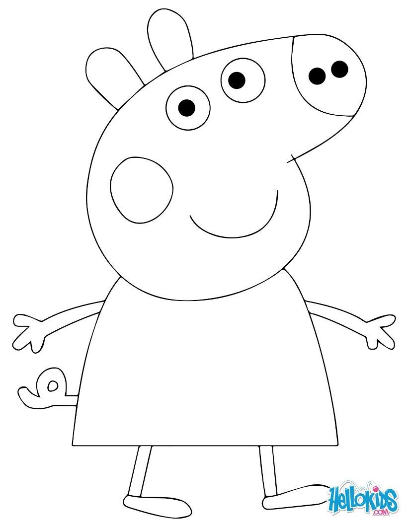 12 dessins de coloriage Peppa Pig En Ligne à imprimer
