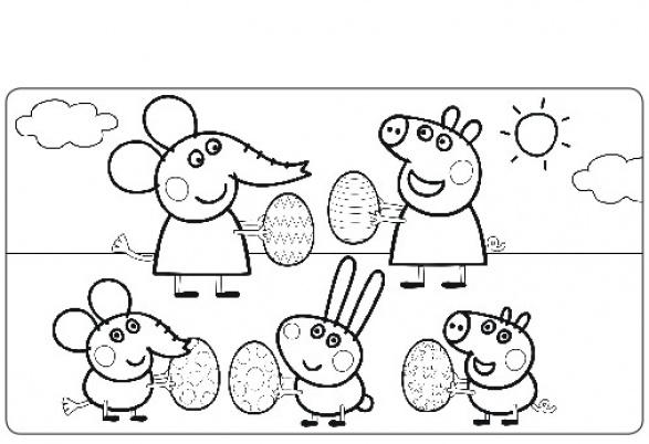 dessin à imprimer: Dessin A Imprimer Peppa Pig A La Plage
