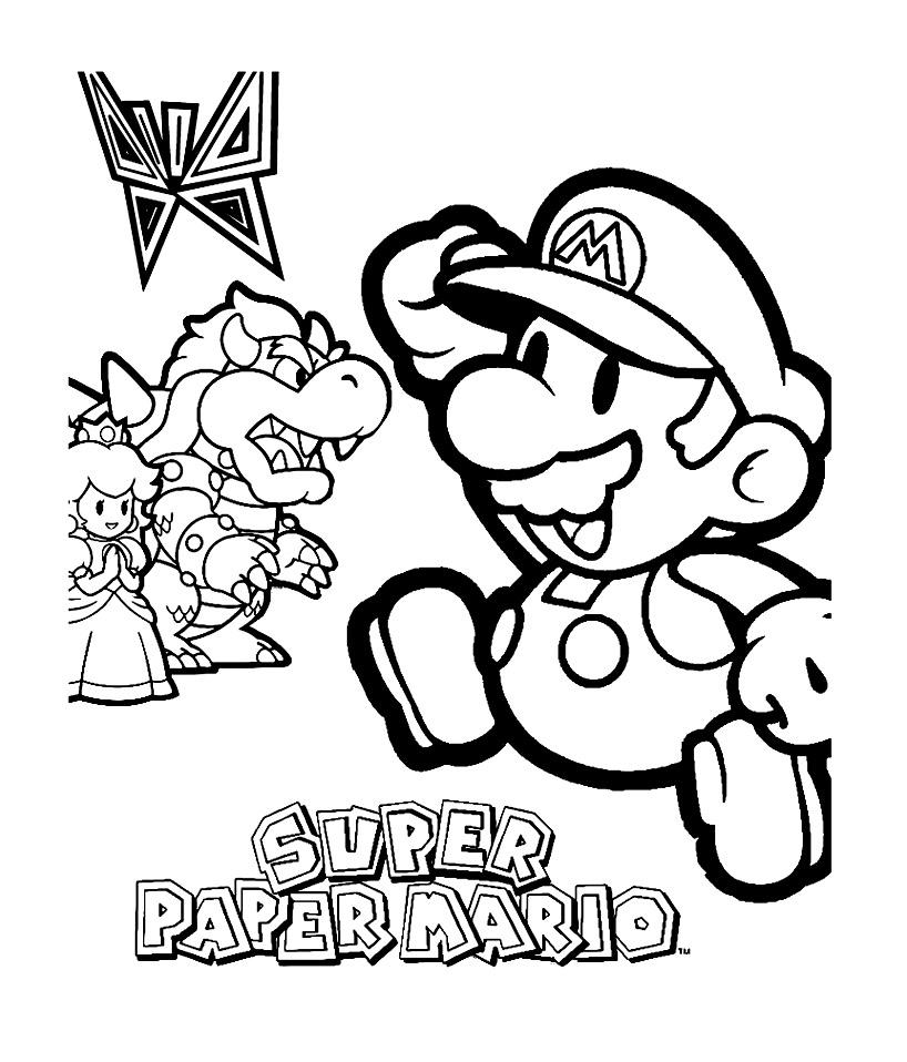 95 dessins de coloriage Personnage Jeux Video à imprimer
