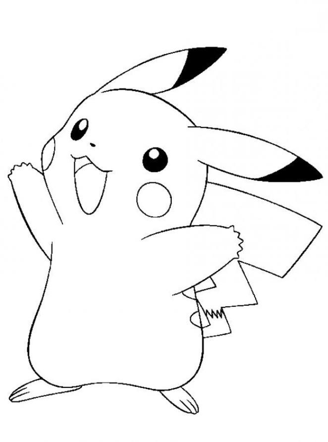 36 dessins de coloriage Pikachu à imprimer