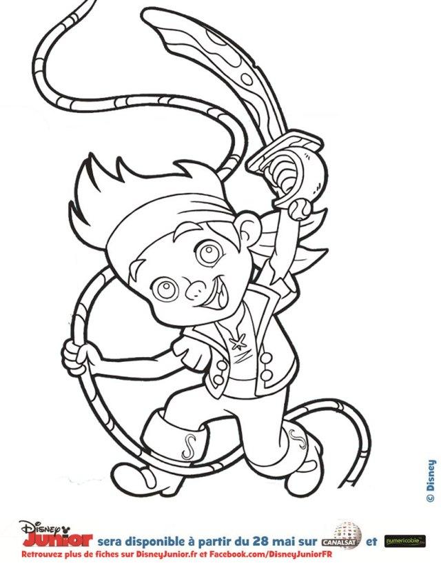 coloriage à dessiner pirates des caraibes en ligne