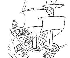 coloriage dessiner bateau pirates caraibes dessincoloriage