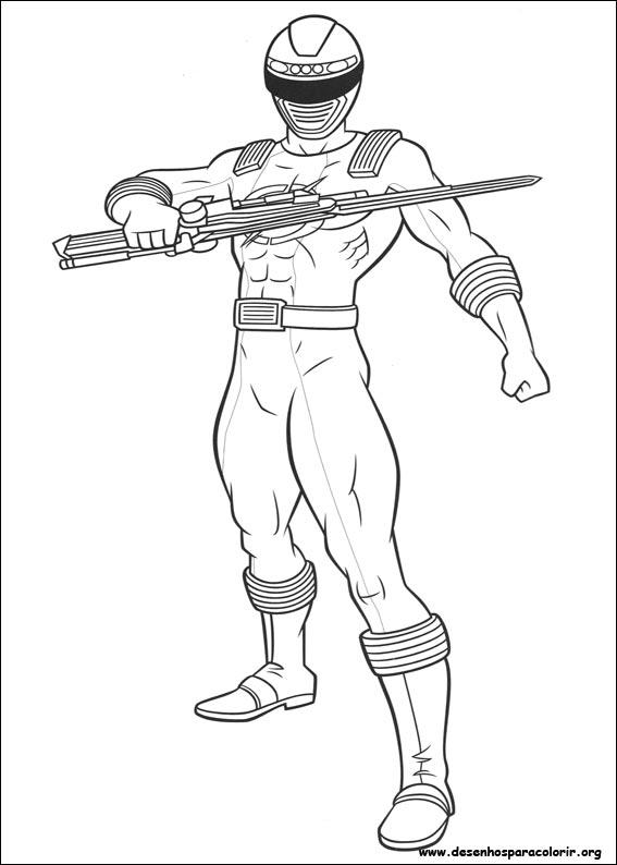 6 dessins de coloriage Power Rangers Samurai à Imprimer