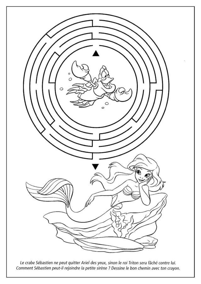 27 dessins de coloriage Princesse Ariel à imprimer