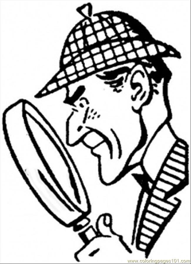 47 dessins de coloriage Sherlock Holmes à imprimer