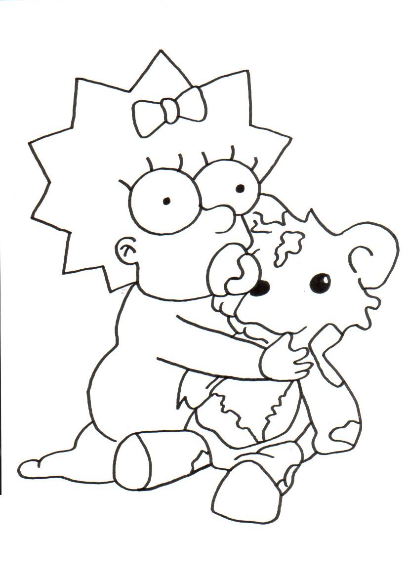 coloriage à imprimer omer simpson