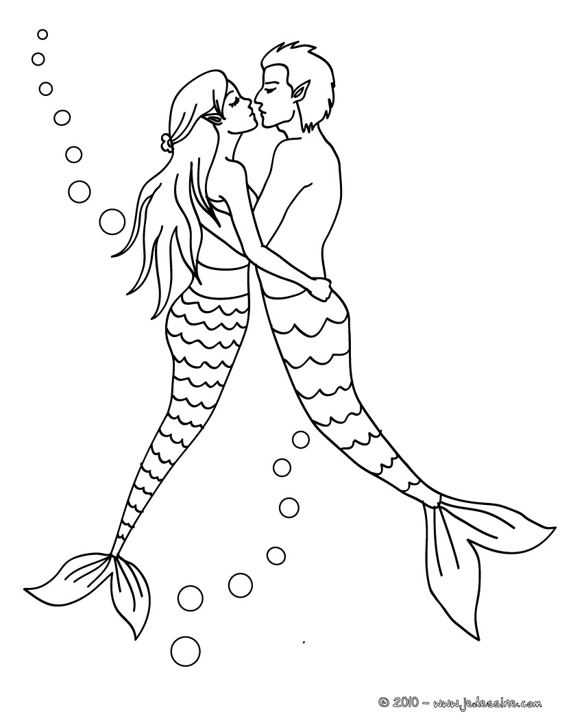 dessin à colorier merliah sirene a imprimer