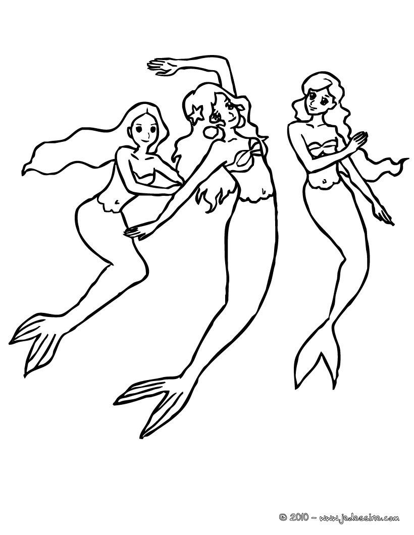 18 dessins de coloriage Sirène Manga à imprimer