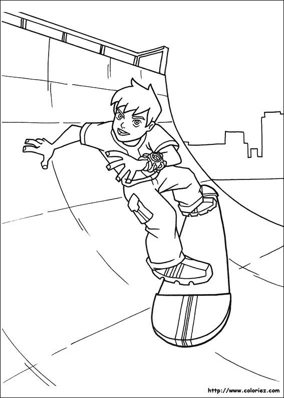 dessin a colorier skate imprimer dessincoloriage