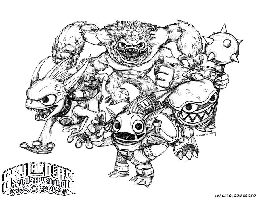 11 dessins de coloriage Skylanders Giants Thumpback A