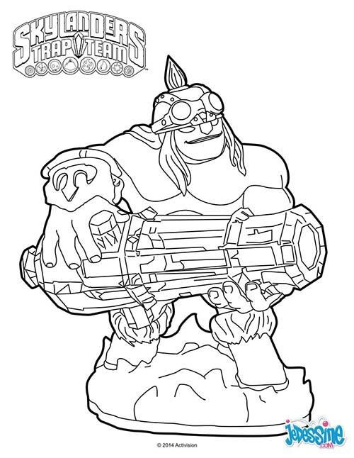 7 dessins de coloriage Skylanders Trap Team à imprimer