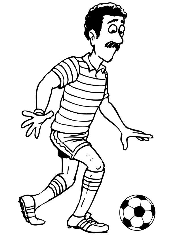 coloriage ballon de soccer
