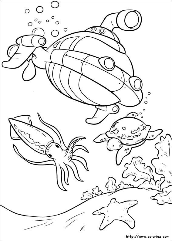 30 dessins de coloriage Sous Marin à imprimer