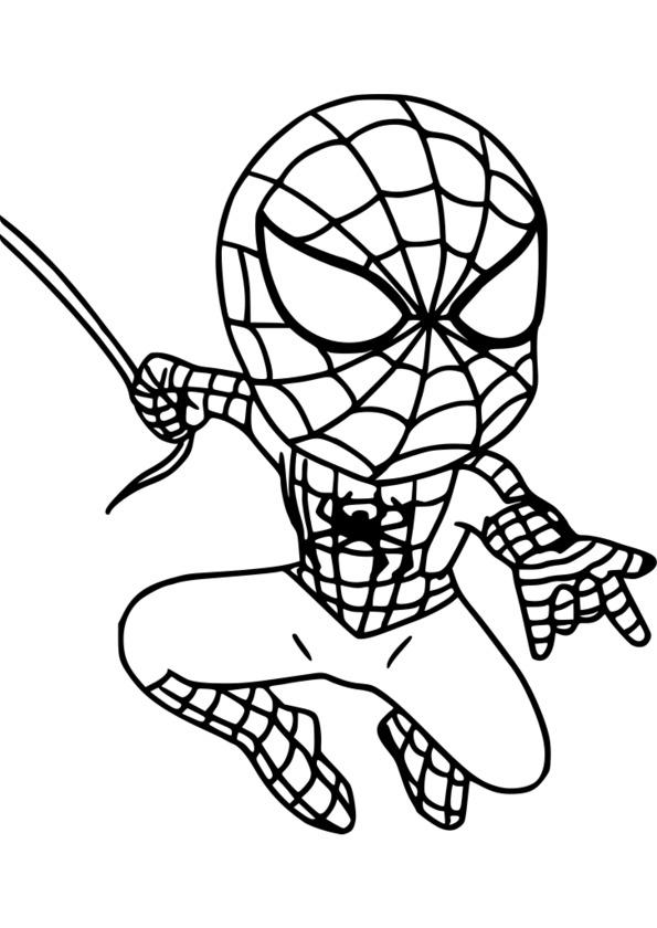 dessin à imprimer: Dessin A Imprimer Spiderman Noir