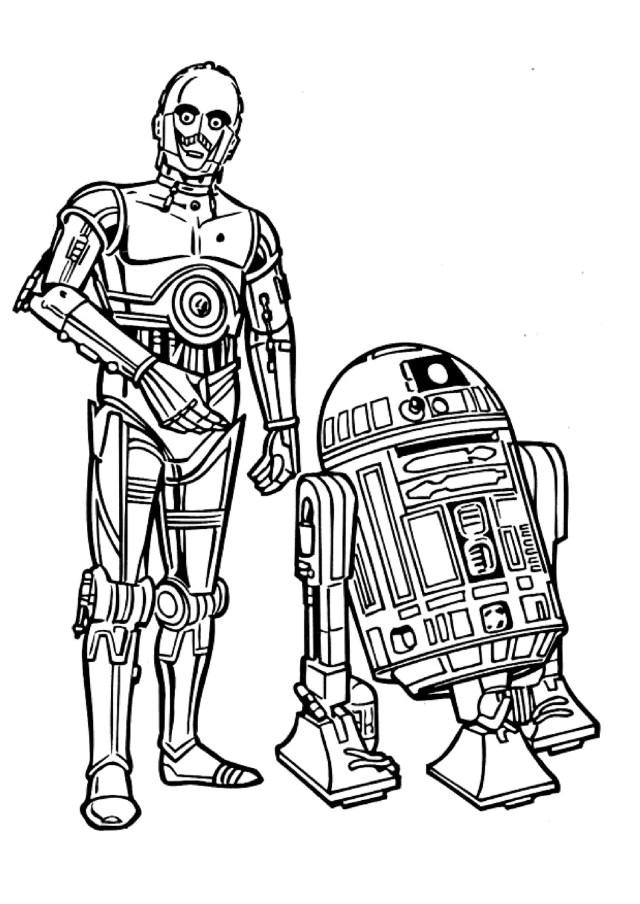 24 dessins de coloriage Star Wars à imprimer