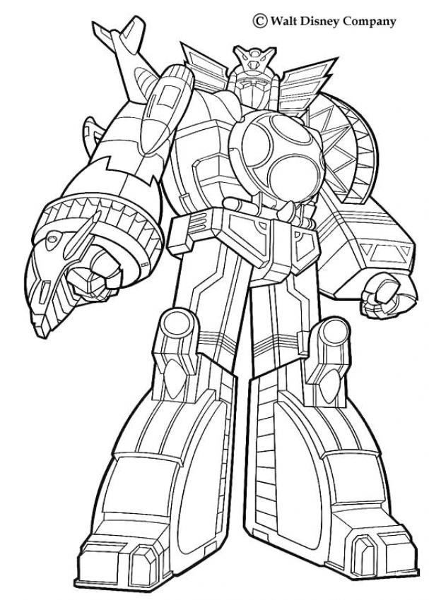 Coloriage Dessiner Real Steel Zeus