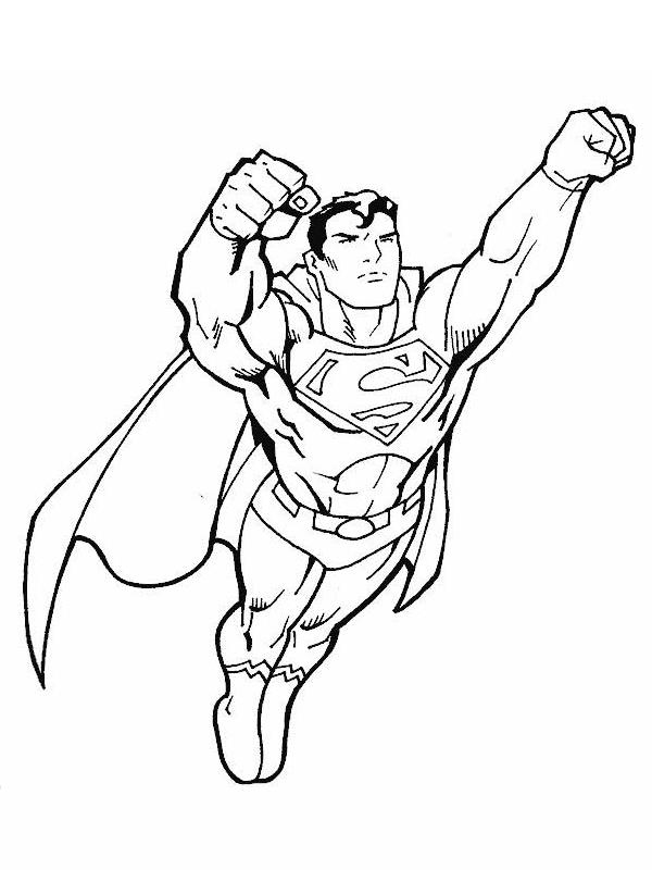 9 dessins de coloriage Superman à Imprimer Gratuit à imprimer