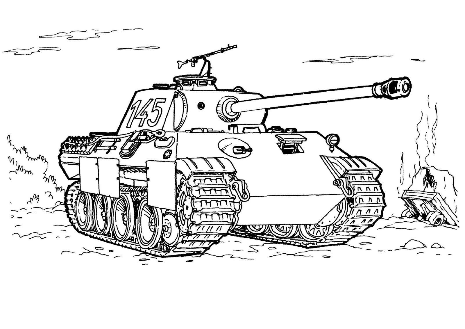 32 dessins de coloriage Tank à imprimer