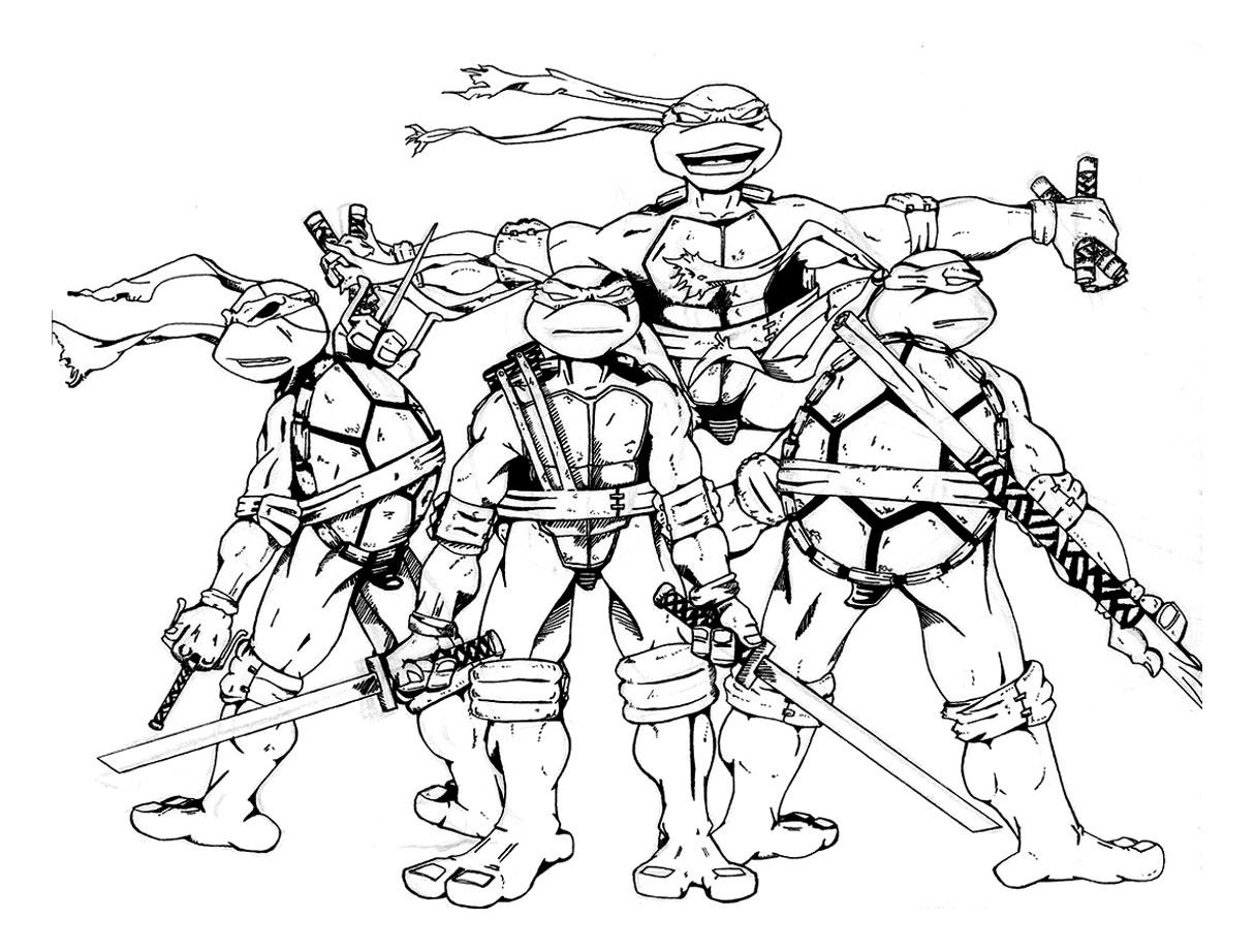 23 dessins de coloriage Tortue Ninja à imprimer