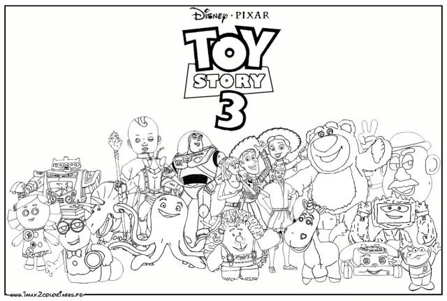 16 dessins de coloriage Toy Story à imprimer