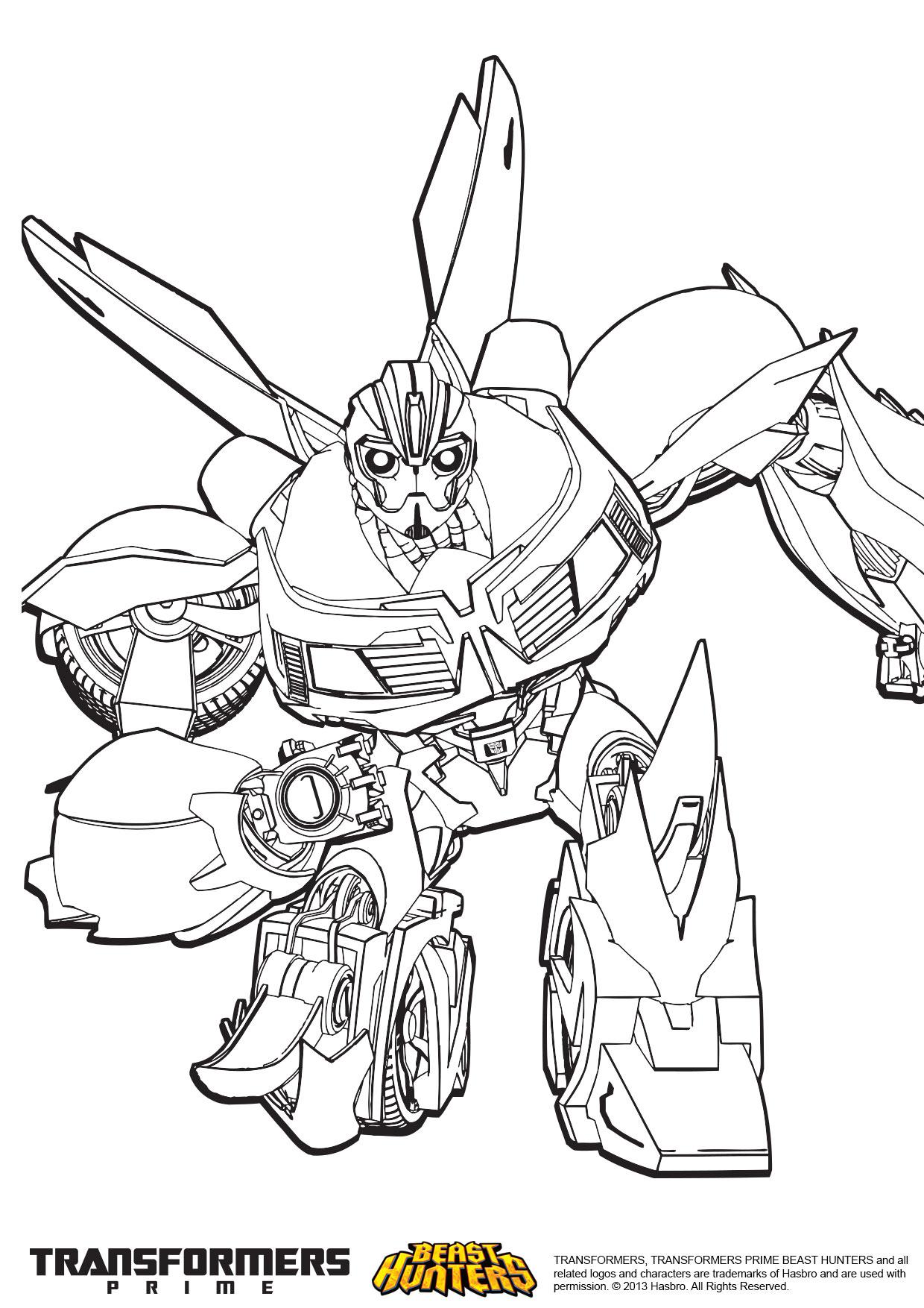 8 dessins de coloriage Transformers Prime A Imprimer à