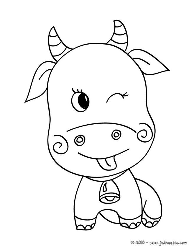 coloriage vache facile dessin a imprimer dessincoloriage